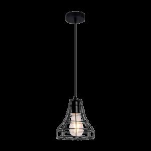 Pendul LED 1 Braț Negru