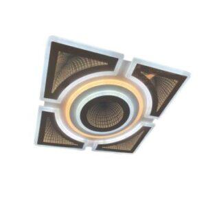 Lustră LED 3D 130W Dimabilă cu Telecomandă