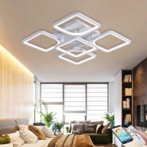 Lustră LED 110W Dimabilă Cu Telecomandă