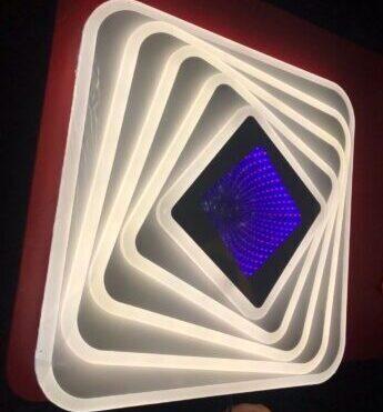 Lustră LED 3D Dimabilă cu Telecomandă 130W