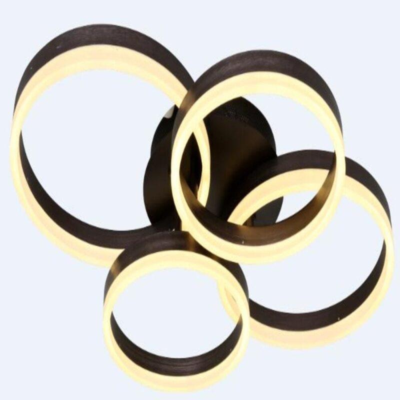 Lustra LED 120W Dimabila Patru Cercuri