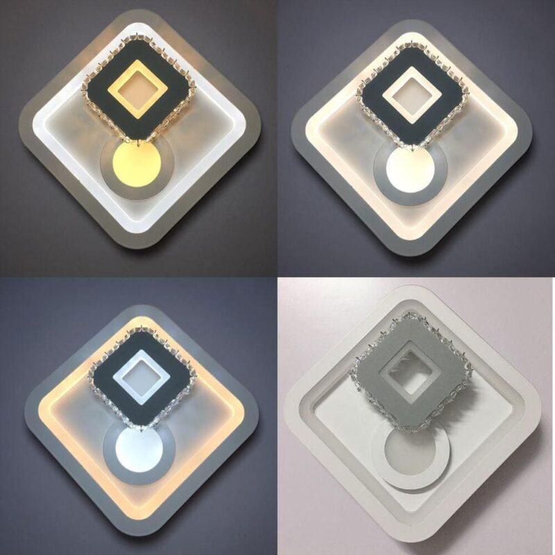 Aplica LED Patrata 12W Cu Trei Faze De Iluminare
