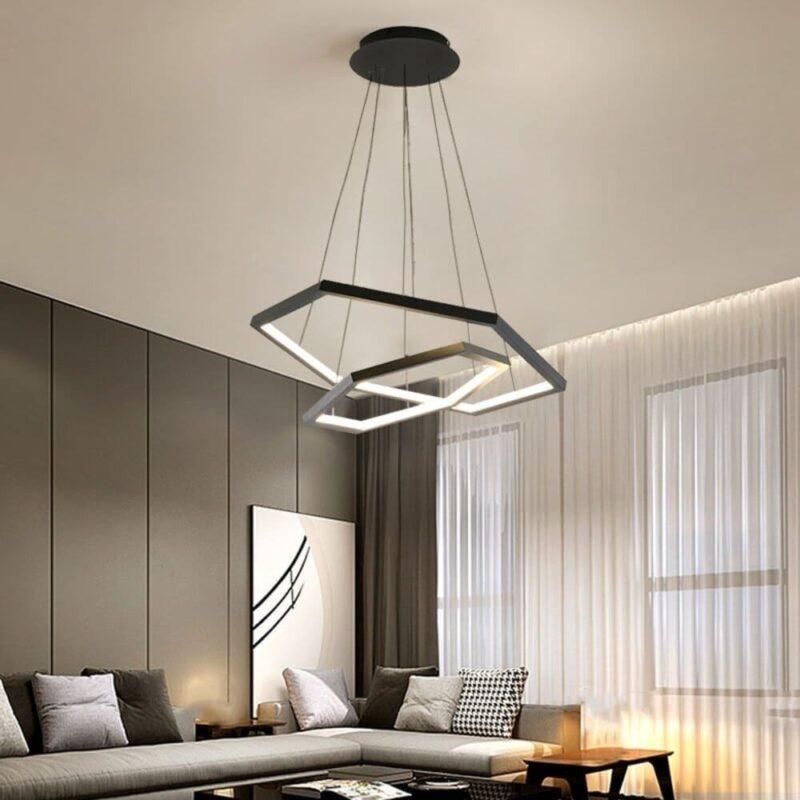 Lustra LED Suspendata Alb Neutru