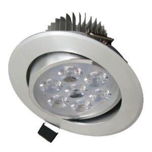 Spot LED Orientabil 7W Aluminiu Alb Rece