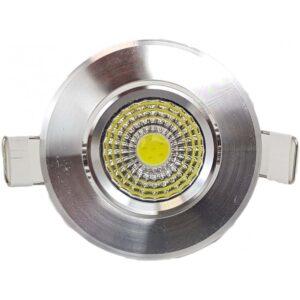 Spot LED 3W Aluminiu Alb Rece