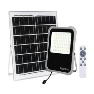 Proiector LED 200W Cu Panou Solar si Telecomanda