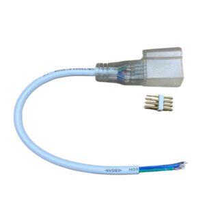 Conector Cu Fir Pentru Neon Flex Rgb