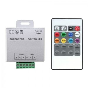 Controller banda LED RGB, 12V, 360W, telecomanda IR 24 taste