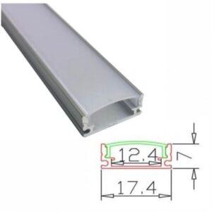 Profil Aluminiu 2M Usor Convex