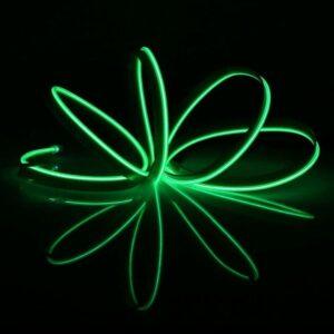 Bandă LED Neon Flex Slim 220V Verde