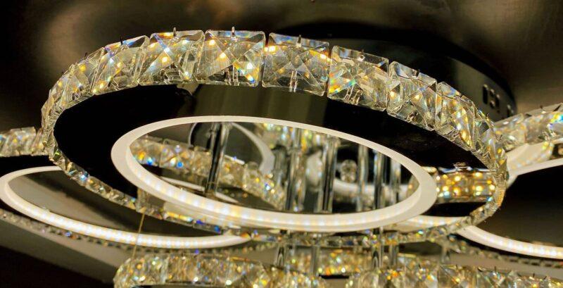 Lustra LED Cristal 120W