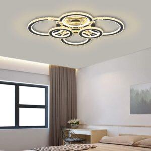 Lustra LED Cristal 6 Cercuri 200W